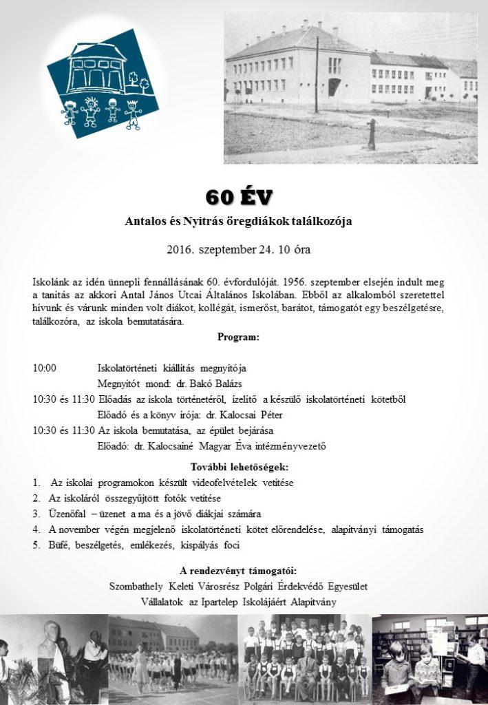 Jubileumi program plakátja.